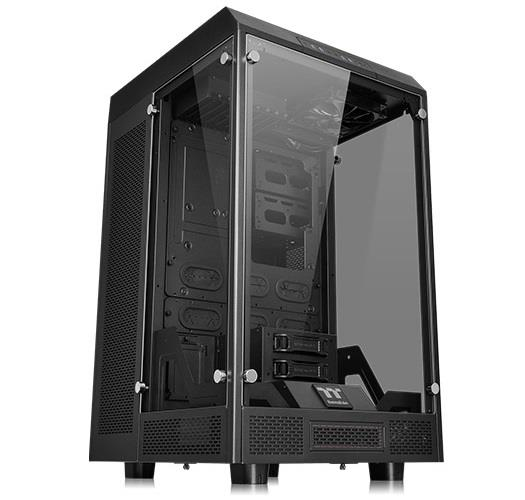 Thermaltake The Tower 900 E-ATX Vertical Super Tower Gaming PC Case - Black - 5mm Thick Tempered Glasss Panels - Dismantlable Modular Design - Liquid Cooling Ready - 4x USB 3.0 - HD Audio - 2x 140mm T