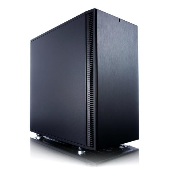 Fractal Design Define Mini C Micro ATX Mini Tower Computer Case - Dense Sound Dampening Top & Side Panels - Built-in PSU Shroud - Magnetic Dust Filter - 1x 120mm Front Fan - 1x 120mm Rear Fan - 2x USB
