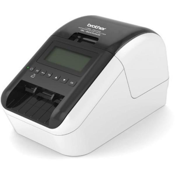 Brother QL-820NWB Label Printer - Direct Thermal - Monochrome - Brother QL-820NWB Label Printer - Direct Thermal - Monochrome prints amazing Black/Red labels using DK-2251. Easy to read Backlit Monoch