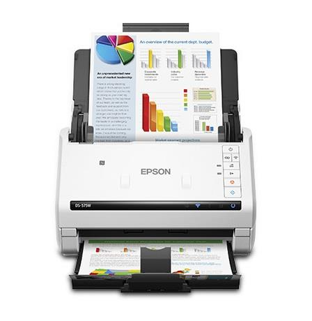 Epson DS-575W Sheetfed Scanner - 600 dpi Optical - 30-bit Color - 30-bit Grayscale - 35 ppm (Mono) - 35 ppm (Color) - Duplex Scanning - USB B11B228202