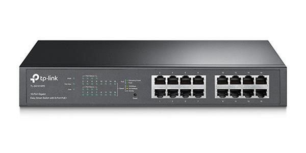 TP-LINK TL-SG1016PE 16-PORT Gigabit DESKTOP/RACKMOUNT POE+ Easy Smart Switch
