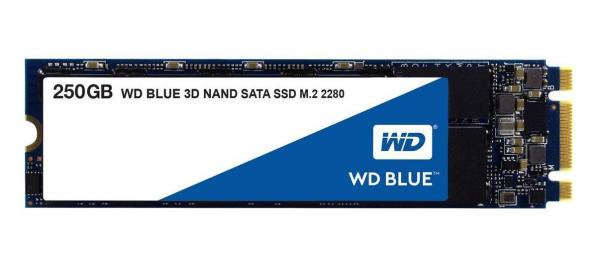 WD Blue 3D NAND 250GB PC SSD - SATA III 6 Gb/s M.2 2280 Solid State Drive - 550 MB/s Maximum Read Transfer Rate - 5 Year Warranty WDS250G2B0B