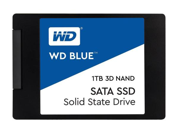 "Western Digital WD Blue 3D NAND 2.5"" 1TB Internal Solid State Drive - 7mm - SATA 6Gb/s - 560 MBps (read) - 530 MBps (write) - 400 TBW (WDS100T2B0A)"