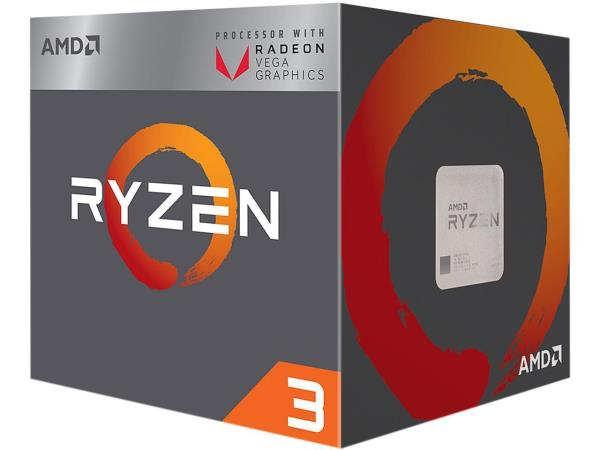 AMD RYZEN 3 2200G 3.5GHz Processor - Socket AM4 - Quad-Core (4 Core) - 4 Threads - 4MB L3 Cache - 2MB L2 Cache - 65W TDP - 3.7GHz Max Turbo Frequency - Radeon RX Vega 8 Graphics - AMD Wraith Stealth C