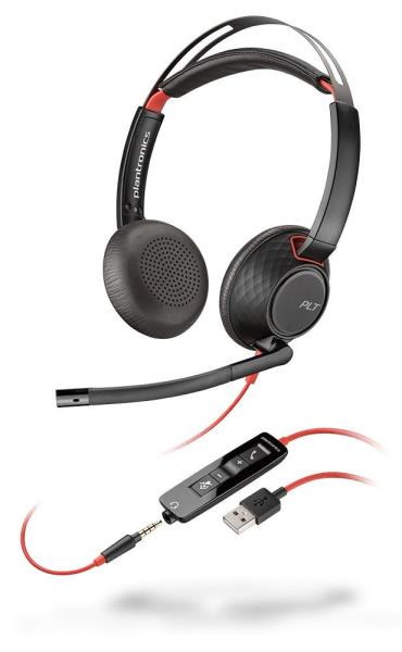 Plantronics Blackwire 5200 Series USB Headset - Mono - USB, Mini-phone - Wired - Over-the-head - Monaural - Supra-aural 207577-01