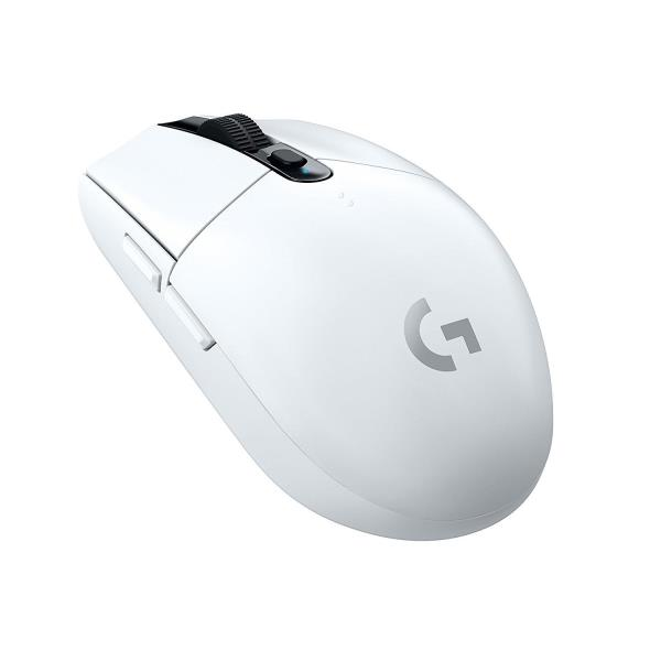 Logitech G305 Lightspeed Wireless Gaming Mouse - White - 12000 DPI - Up to 5 Profiles on Onboard Memory - 1ms - 6 Programmable Buttons - Ultra-Lightweight - Built=in USB Nano Receiver (910-005289)