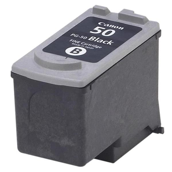 Genuine Canon PG-50 HIGH Yield Ink Cartridge, Black - 0616B002 CNMPG50