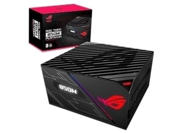 ASUS ROG Thor 850 850W Fully Modular RGB Power Supply - 80 PLUS Platinum Certified - LIVEDASH OLED Panel - 135mm Wing-Blade Fan - Integrated ROG Heatsinks - 2x PCI-E 6+2-pin Connectors (ROG THOR 850P)
