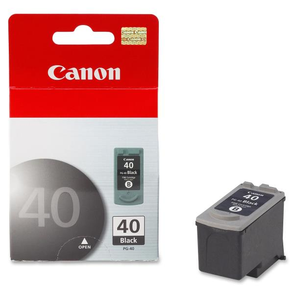Genuine Canon PG-40 Ink Cartridge, Black 0615B002
