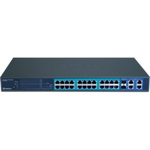Trendnet TPE-224WS 24 Port 10/100MBPS Web Smart PoE Switch W/ 4 Gigabit Ports and 2 MINI-GBIC Slots