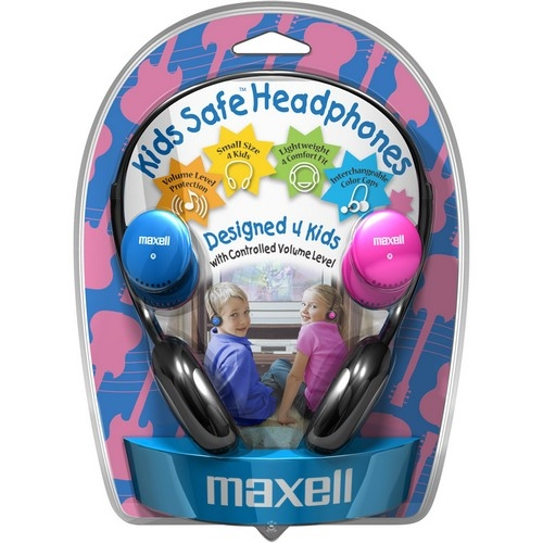 Maxell Kids Safe KHP-2 Headphone - Stereo Over-the-head - Binaural - Semi-open - Mini-phone