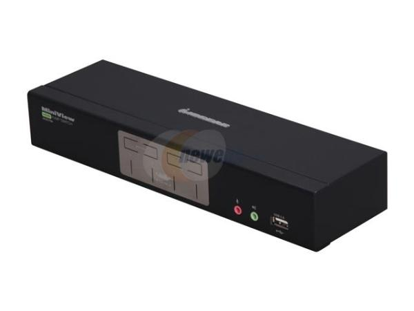 IOGEAR MiniView 4-Port HDMI Multimedia KVM Switch with Audio - 4 x 1 - 4 x HDMI Video, 4 x Type B Keyboard/Mouse GCS1794