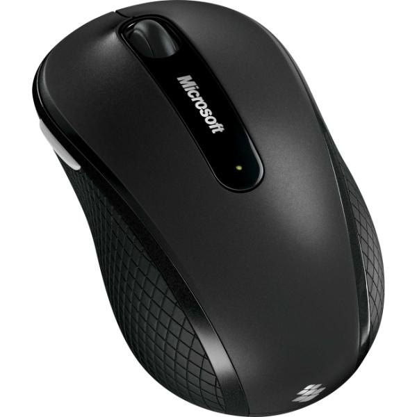 Microsoft Wireless Mobile Mouse 4000 for Business Black 4 Buttons Tilt Wheel USB 2.4 GHz RF BlueTrack