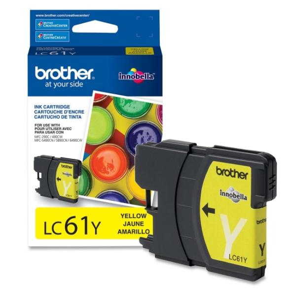 Brother LC61YS Genuine Ink Cartridge (Yellow)