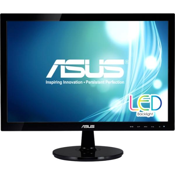 "Asus VS197T-P 18.5"" LED LCD Monitor - 16:9 - 5 ms - Adjustable Display Angle - 1366 x 768 - 16.7 Million Colors - 250 Nit - 50,000,000:1 - Speakers - DVI - VGA - Black - EPEAT Gold, ErP, J-Moss (Japan"