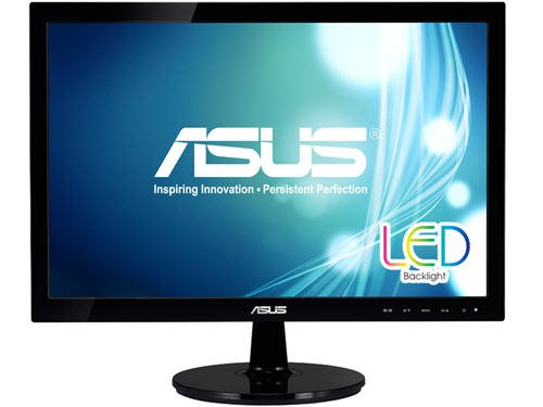 "Asus VS207T-P 19.5"" HD+ LED LCD Monitor - 16:9 - Black - 1600 x 900 - 16.7 Million Colors - )250 Nit - 5 ms - 75 Hz Refresh Rate - 2 Speaker(s) - DVI - VGA"