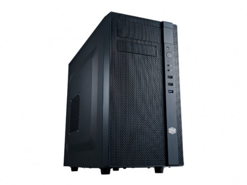 COOLER MASTER N Series NSE-200-KKN1 Midnight Black Plastic bezel with mesh, steel case body MicroATX, Mini -ITX Computer CaseATX PS2 (Max. length: 180mm / 7.1 inch) Power Supply