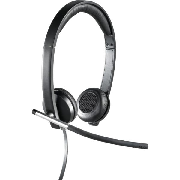 Logitech USB Headset Stereo H650e - Stereo - USB - Wired - 50 Hz - 10 kHz - Over-the-head - Binaural - Supra-aural - Noise Cancelling Microphone 981-000518