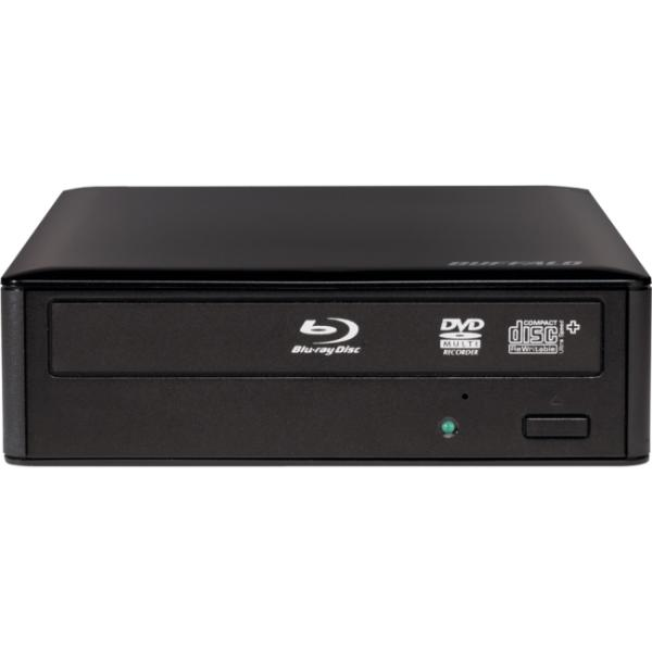 Buffalo MediaStation BRXL-16U3 External Blu-ray Writer - BD-R/RE Support - 48x Read/48x Write/24x Rewrite CD - 12x Read/16x Write/8x Rewrite BD16x Read/16x Write/12x Rewrite DVD - Triple-layer Media S