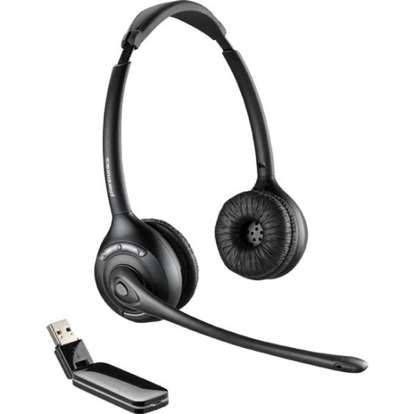 Plantronics W410 Over-the-head, Monaural (Standard) - Mono - Wireless - DECT - 300 ft - Over-the-head - Monaural - Supra-aural - Noise Cancelling Microphone 84007-03