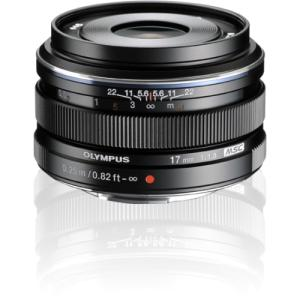 Olympus M.ZUIKO DIGITAL 17 mm f/1.8 Fixed Focal Length Lens for Micro Four Thirds - 46 mm Attachment - 0.08x Magnification