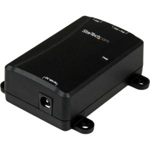 StarTech.com 1 Port Gigabit PoE+ Power over Ethernet Injector 48V / 30W - 802.3at / 802.3af - Wall-Mountable - Power injector - 30 Watt