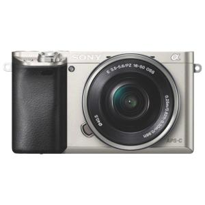 Sony a6000 24.3 MP Digital Mirrorless Camera with 16-50mm Lens - Silver ILCE6000LS