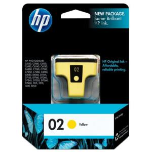 HP 2 Original Ink Cartridge - Single Pack - Inkjet - Standard Yield - 500 Pages - Yellow - 1 Each C8773WN#140