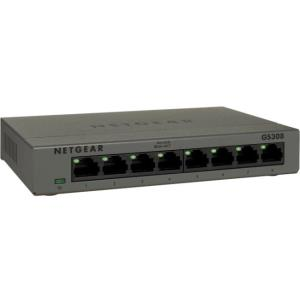 Netgear GS308-100PAS Ethernet Switch, 8 Ports - 10/100/1000Base-T - Desktop