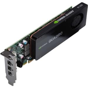 PNY Quadro K1200 Graphic Card - 4 GB GDDR5 - Low-profile - Single Slot Space Required - 128 bit Bus Width - 4096 x 2160 - Fan Cooler - OpenGL 4.5, DirectX 12, DirectCompute, OpenCL - 4 x Mini DisplayP