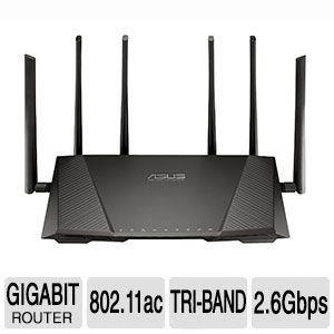 Asus RT-AC3200 IEEE 802.11ac Ethernet Wireless Router