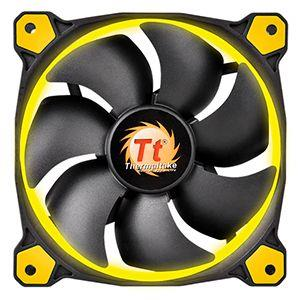 Thermaltake Riing 140mm High Static Pressure Yellow LED Radiator Fan CL-F039-PL14YL-A