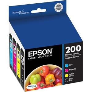 Epson DURABrite Ultra 200 Original Ink Cartridge - Cyan, Magenta, Yellow, Black - Inkjet - 175 Page Black, 165 Page Cyan, 165 Page Magenta, 165 Page Yellow - 4 / Pack T200120-BCS