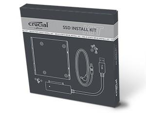 "Crucial SSD Install Kit - Storage bay adapter - 3.5"" to 2.5"" (CTSSDINSTALLAC)"