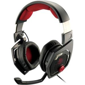 Tt eSPORTS Shock 3D 7.1 Headset - Surround - Diamond Black, Red - USB - Wired - 32 Ohm - 20 Hz - 20 kHz - Over-the-head - Binaural - Circumaural - 6.6 ft Cable HT-RSO-DIECBK-13