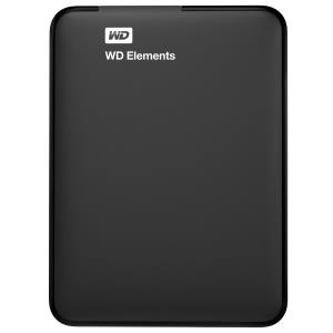 WD Elements USB 1TB 3.0 high-capacity portable hard drive for Windows. - USB 3.0 - Portable - Black - 1 Pack WDBUZG0010BBK-EESN