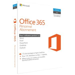Microsoft Office 365 Personal French Subscription 1YR Canada Only Medialess P2 QQ2-00598