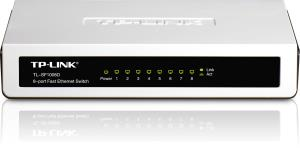 Tp-Link TL-SF1008D 8- port mini Desktop Swtich - 8 Ports - 8 x RJ-45 - 10/100Base-TX