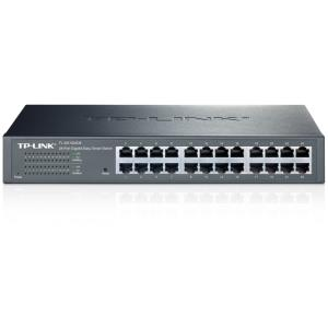 TP-LINK 24-Port Gigabit Easy Smart Switch - 24 Ports - Manageable - 24 x RJ-45 - 10/100/1000Base-T - Desktop, Rack-mountable TL-SG1024DE