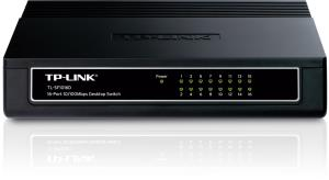 TP-Link TL-SF1016D 10/100Mbps 16-Port 13-inch Desktop/ Rackmountable Switch, 3.2Gbps Capacity