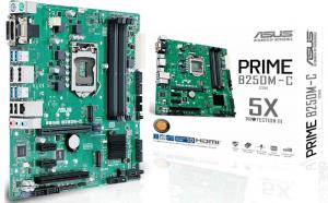 Asus Prime PRIME B250M-C/CSM Desktop Motherboard - Intel Chipset - Socket H4 LGA-1151 - Micro ATX - 1 x Processor Support - 64 GB DDR4 SDRAM Maximum RAM - 2.40 GHz, 2.13 GHz Memory Speed Supported - U