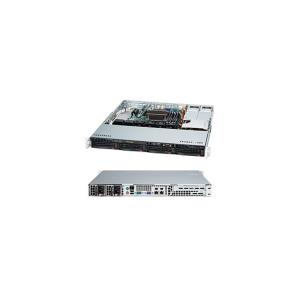 "Supermicro SuperChassis 813MFTQC-R407CB - Rack-mountable - Black - 1U - 4 x Bay - 4 x 1.57"" x Fan(s) Installed - 2 x 400 W - Power Supply Installed - ATX, Micro ATX Motherboard Supported - 6 x Fan(s)"