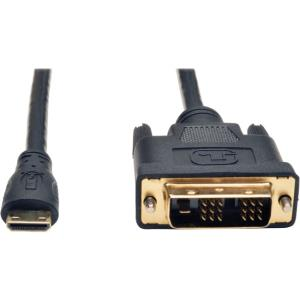 Mini HDMI to DVI Digital Monitor Adapter Cable M/M 10ft 10ft P566-010-MINI