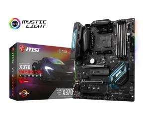 MSI X370 GAMING PRO CARBON ATX Motherboard - Socket AM4 - AMD X370 Chipset - Supports DDR4-3200+(OC) - 2x PCIe 3.0 x16 - 1x PCIe 2.0 x16 - SLI/CrossFire Ready - 2x M.2 Socket3 - HDMI 1.4 - DisplayPort