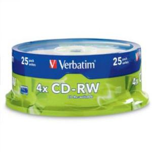 Verbatim - 25 x CD-RW - 700 MB ( 80min ) 4x - 12x - spindle