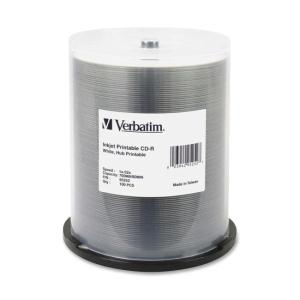 Verbatim - 100 x CD-R - 700 MB ( 80min ) 52x - white - ink jet printable surface - storage media