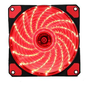 Kopplen ACF120 120mm 15 LEDs Computer Case Fan - Red - 1200rpm±10% - 48.63CFM - 1.12mm/H20 - Silent Hydraulic Bearing (ACF120-15LED-RED)