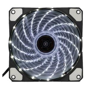 Kopplen ACF120 120mm 15 LEDs Computer Case Fan - White - 1200rpm±10% - 48.63CFM - 1.12mm/H20 - Silent Hydraulic Bearing (ACF120-15LED-WHITE)