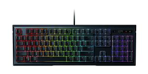Razer ORNATA CHROMA Mecha-Membrane Gaming Keyboard - Mid-height Keycaps - Individually RGB Backlit Keys - Ergonomic Wrist Rest (RZ03-02040200-R3U1)