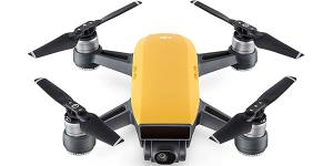 Dji Spark Mini Drone - 2-AXIS Gimbal Camera 1080P/12MP Max 50KPH / 16 Min Flight Time - Yellow CP.PT.000732